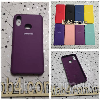 Брендовий чохол накладка Silicone Cover для Samsung (Самсунг) А10ѕ