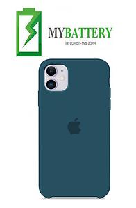 Чехол Silicone Case original (чехол-бампер) iPhone 11 синий (46)