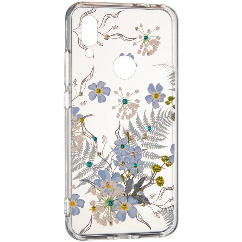 Чехол Diamond Younicou для Xiaomi Redmi 8a Blue Flowers