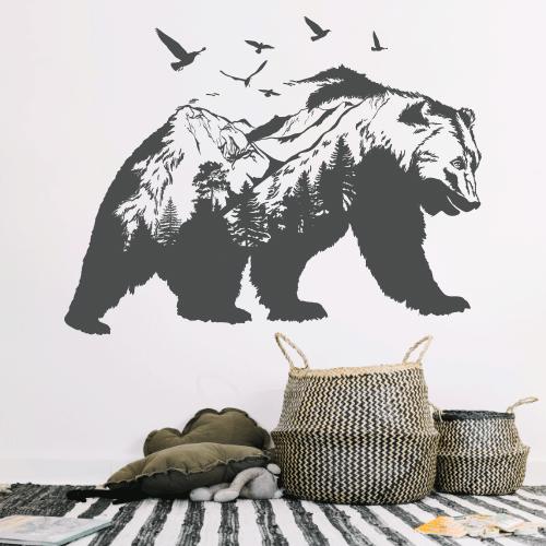 Наклейка на стіну Ведмідь