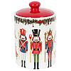 """Банка новогодняя для хранения  """"Щелкунчик"""", посуда для Рождества, 600 мл, цвет коричневый, набор 4 шт"""