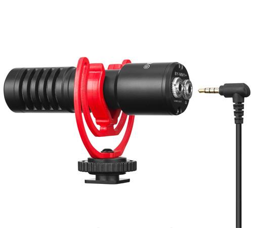 Суперкардиоидный конденсаторный микрофон, совместим со многими устройствами Boya BY-MM1 Plus