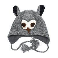 Шапка с ушками Kathmandu Owl Animals Оne size Темный Серый 22948, КОД: 1483109