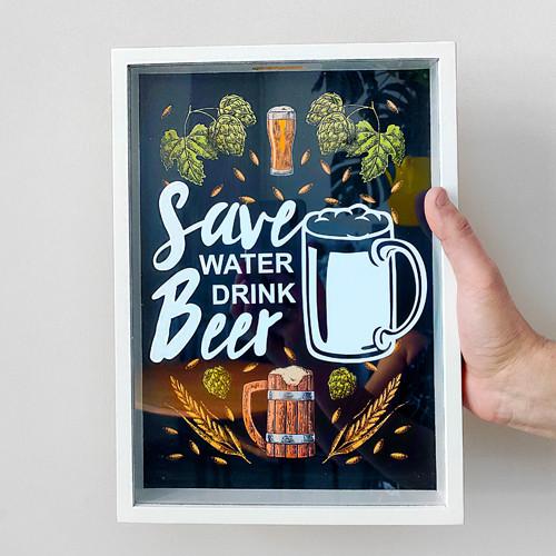 Копилка для крышек от пива Save water drink beer (PIV_20M004)
