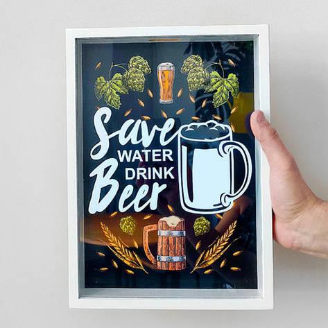 Копилка для крышек от пива Save water drink beer (PIV_20M004), фото 2