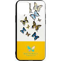 Чехол накладка Butterfly для Xiaomi Redmi Note 7 Yellow