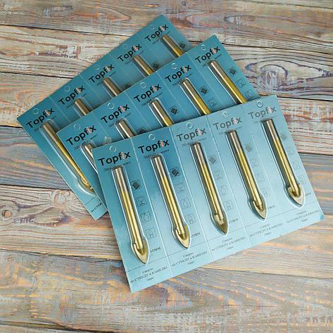 Сверло для плитки и стекла, перо (титан) 10 мм, фото 2