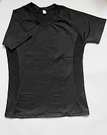 Женская спортивная футболка для фитнеса и спорта Черный
