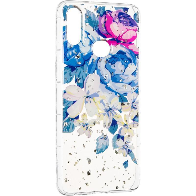 Чехол силиконовый Deep Shine Flowers для Samsung Galaxy A10s A107 Peony