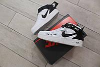 Мужские демисезонные кроссовки Nike Air Force 1 07 Mid LV8 (бело-черные) D37