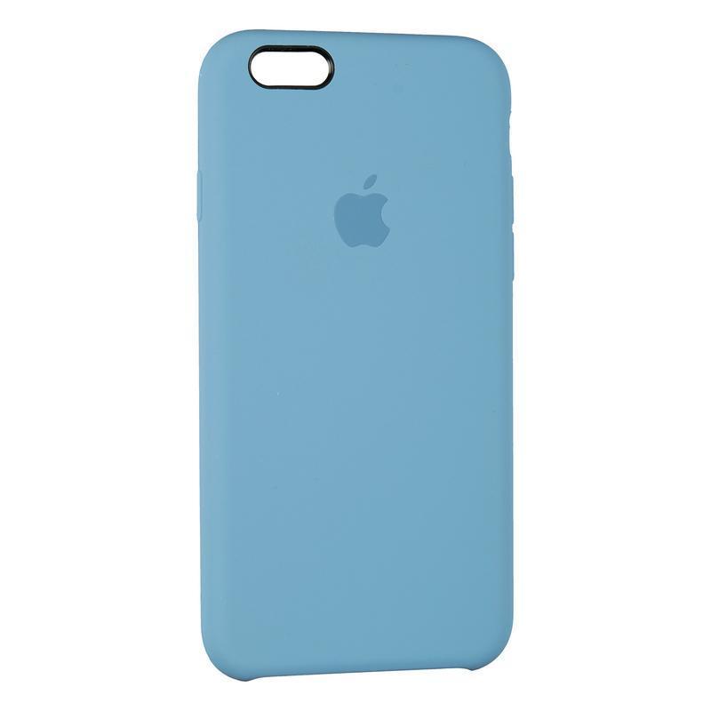 Чехол Silicone Case оригинальный для iPhone 6 Plus 6s Plus Blue (3)