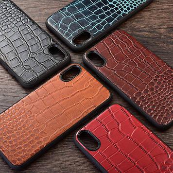 """HTC Desire 19s оригинальный чехол панель накладка бампер противоударный НАТУРАЛЬНАЯ кожа """"XQ Сroco"""""""