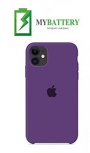 Чехол Silicone Case original (чехол-бампер) iPhone 11 фиолетовый (34)