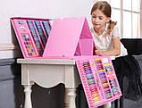 Художественный набор для творчества с мольбертом для детей рисования большой, фото 3