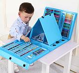 Художній набір для творчості з мольбертом для дітей малювання великий, фото 4