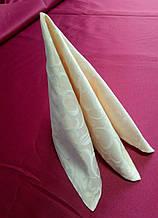 Салфетка 40 х 40 ткань Мати  рис.1751 Беж пудра