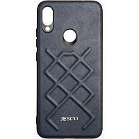 Чехол Jesco Leather для Xiaomi Redmi Note 7 Pro Blue