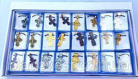 Крест металический нательный (набор 24 шт.) №1