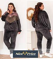 Женский велюровый спортивный костюм, качество 100% 50-52,54-56,58-60, 62-64, фото 1