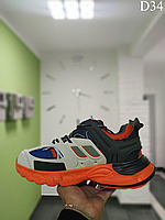 Мужские демисезонные кроссовки Balenciaga Track White-orange D34