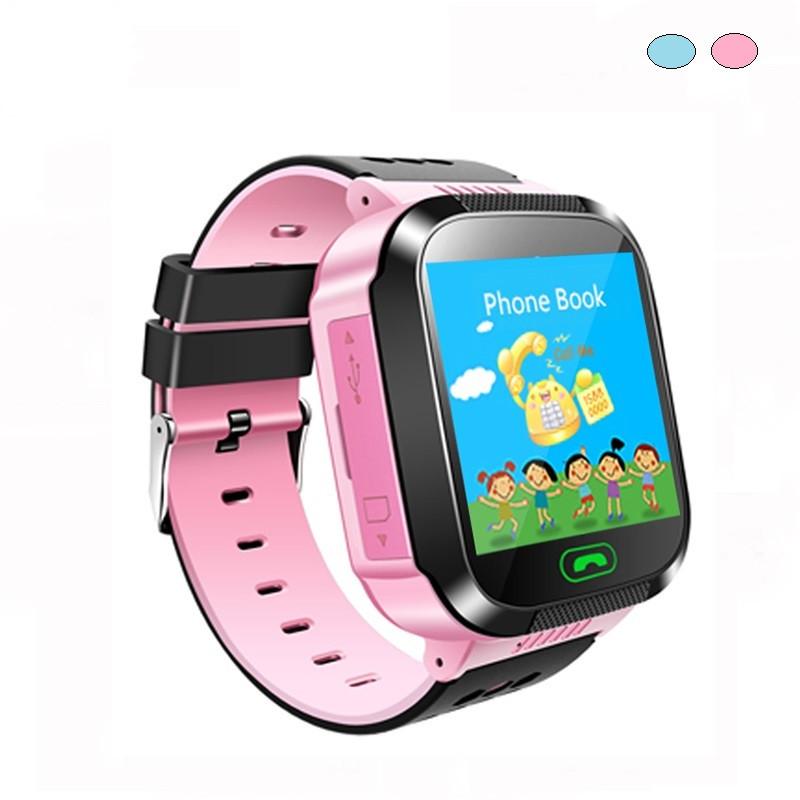 Детские смарт часы Q02 с GPS трекером