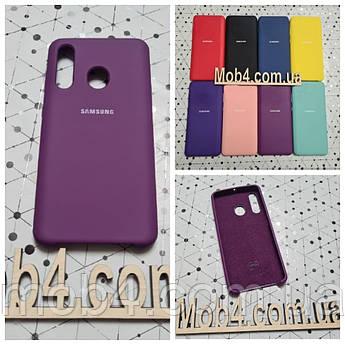 Брендовий чохол накладка Silicone Cover для Samsung (Самсунг) А60