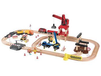 Набір Будівельний майданчик для дерев'яної залізниці  3,8м  PlayTive Junior 67 елементів