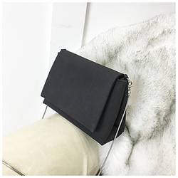 Маленька сумочка на довгому ремінці, чорна маленька сумка AL-3706-10