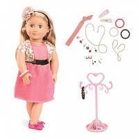 Виниловая кукла Адра с украшениями (25 шт), Our Generation (46 см)