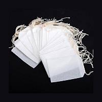 100шт. Фільтр-пакети для чаю трав на зав'язках 5.5х7см