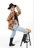 Женская рубашка в клетку с длинным рукавом байка+шерсть размер: 42-46,46-50, фото 4