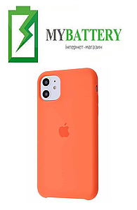 Чехол Silicone Case original (чехол-бампер) iPhone 11 Pro 2019 оранжевый (02)