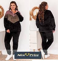 Женский комфортный спортивный костюм, качество 100% 50-52,54-56,58-60, 62-64, фото 1