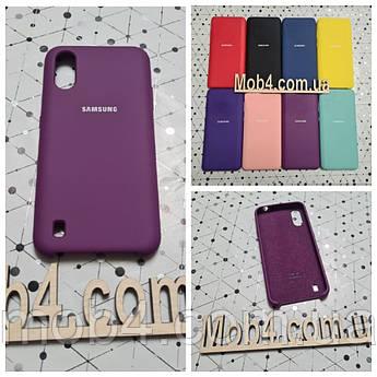 Брендовий чохол накладка Silicone Cover для Samsung (Самсунг) А01