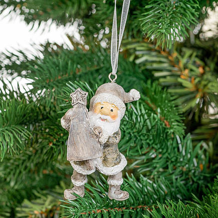 """Подвеска """"Дед Мороз с елкой"""", в упаковке 4шт. (2007-013), фото 2"""