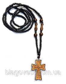 Крест нательный, деревянный в метале SV-20-35 (1шт) СО