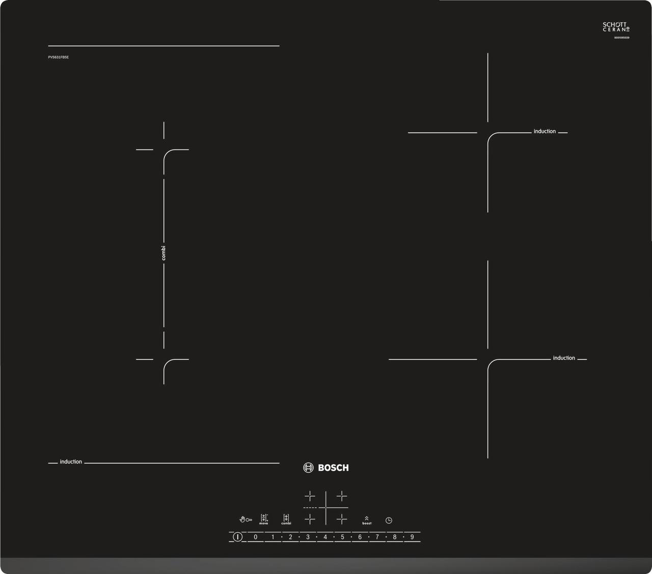 Индукционная варочная поверхность BOSCH PVS631FB5E