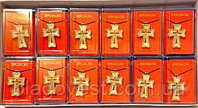 Крест нательный, перламутр, эмаль в метале (набор 12 шт.)