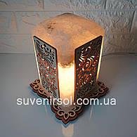 Соляной светильник Прямоугольный с нашивкой