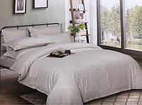 """Семейное постельное белье """"Элит"""" евро размер с двумя пододеяльниками (13407) цветной страйп-сатин люкс"""
