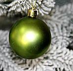 Куля новорічна зелена мікс D 8 см (80мм), фото 5