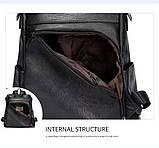 Городской черный рюкзак, фото 2