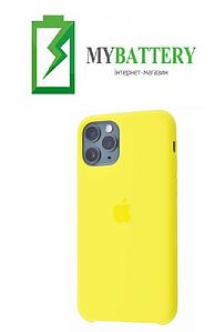 Чехол Silicone Case original (чехол-бампер) iPhone 11 Pro 2019 желтый (04)