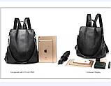 Городской черный рюкзак, фото 4