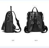 Городской черный рюкзак, фото 5