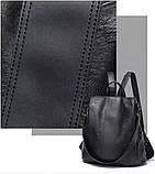 Городской черный рюкзак, фото 7