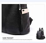 Городской черный рюкзак, фото 9