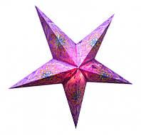"""Светильник картонный Звезда пятилучевая """"Purple Flower Embd."""""""