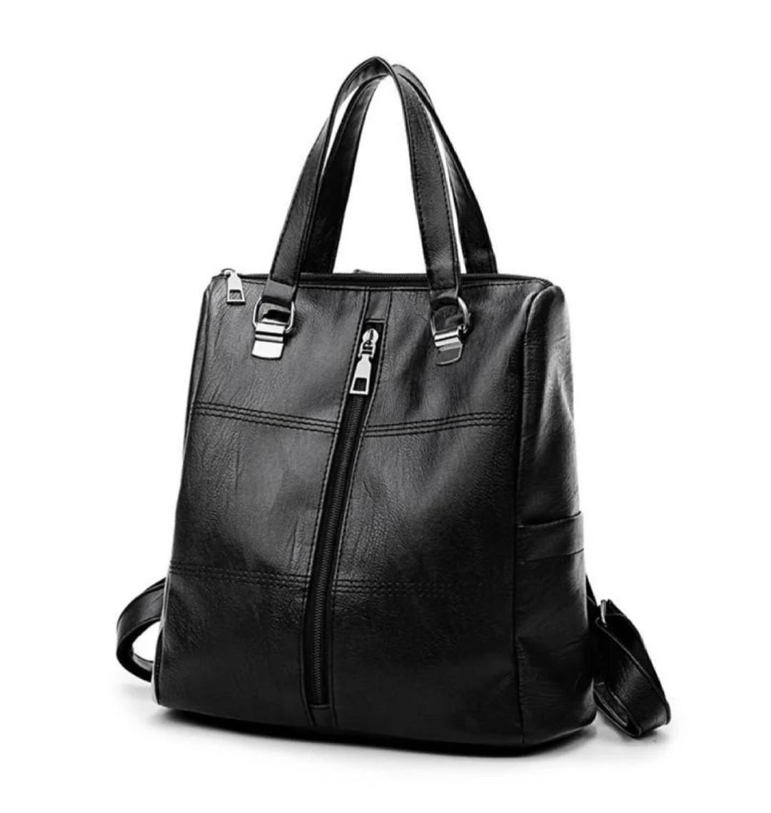 Сумка - рюкзак черная классика
