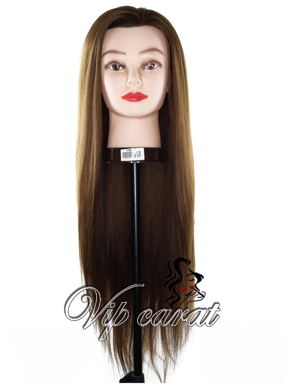 Учебная голова манекен для причесок термо / болванка для парикмахера / манекен для зачісок